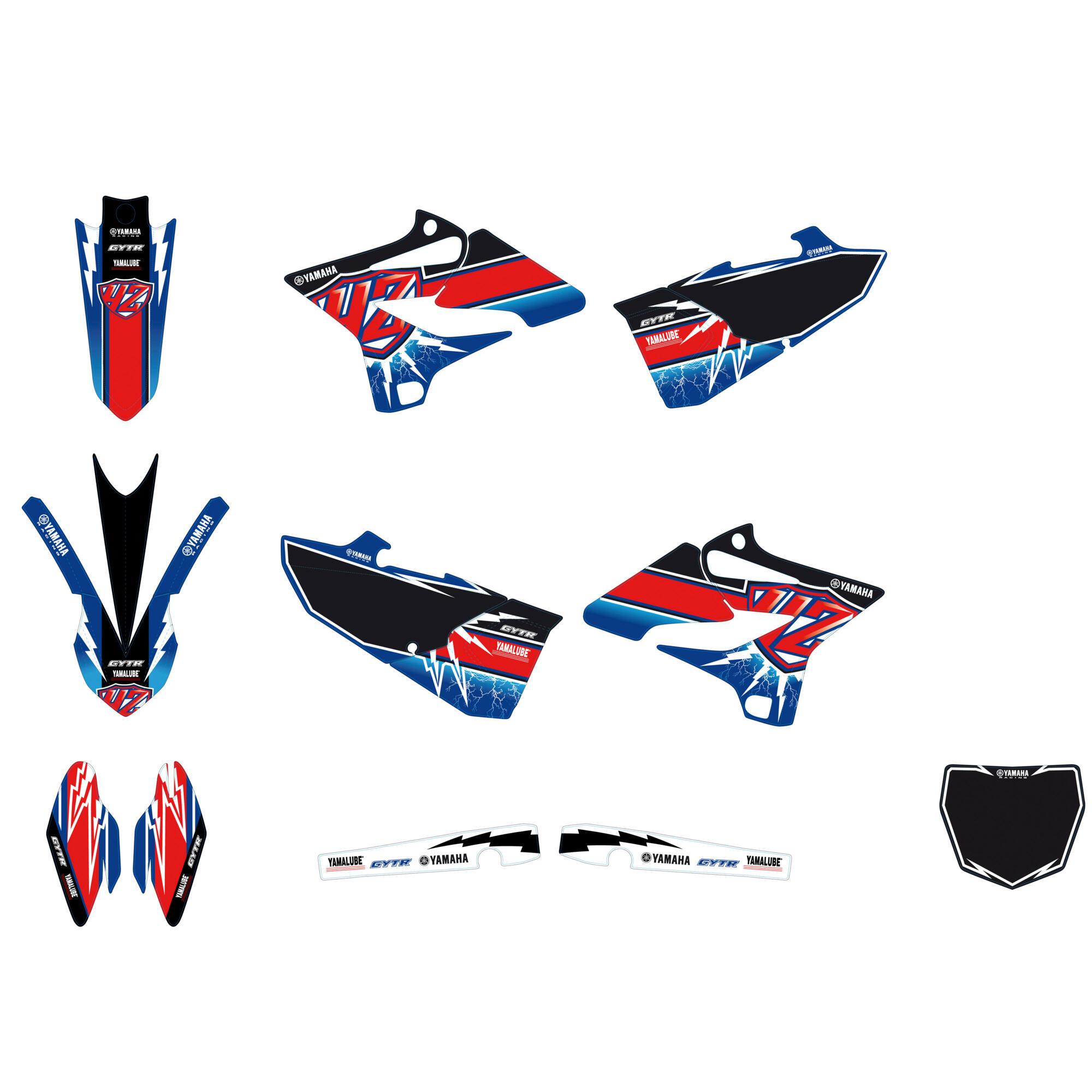 Sticker kit yz125 1sr e4240 00 00 yamaha motor