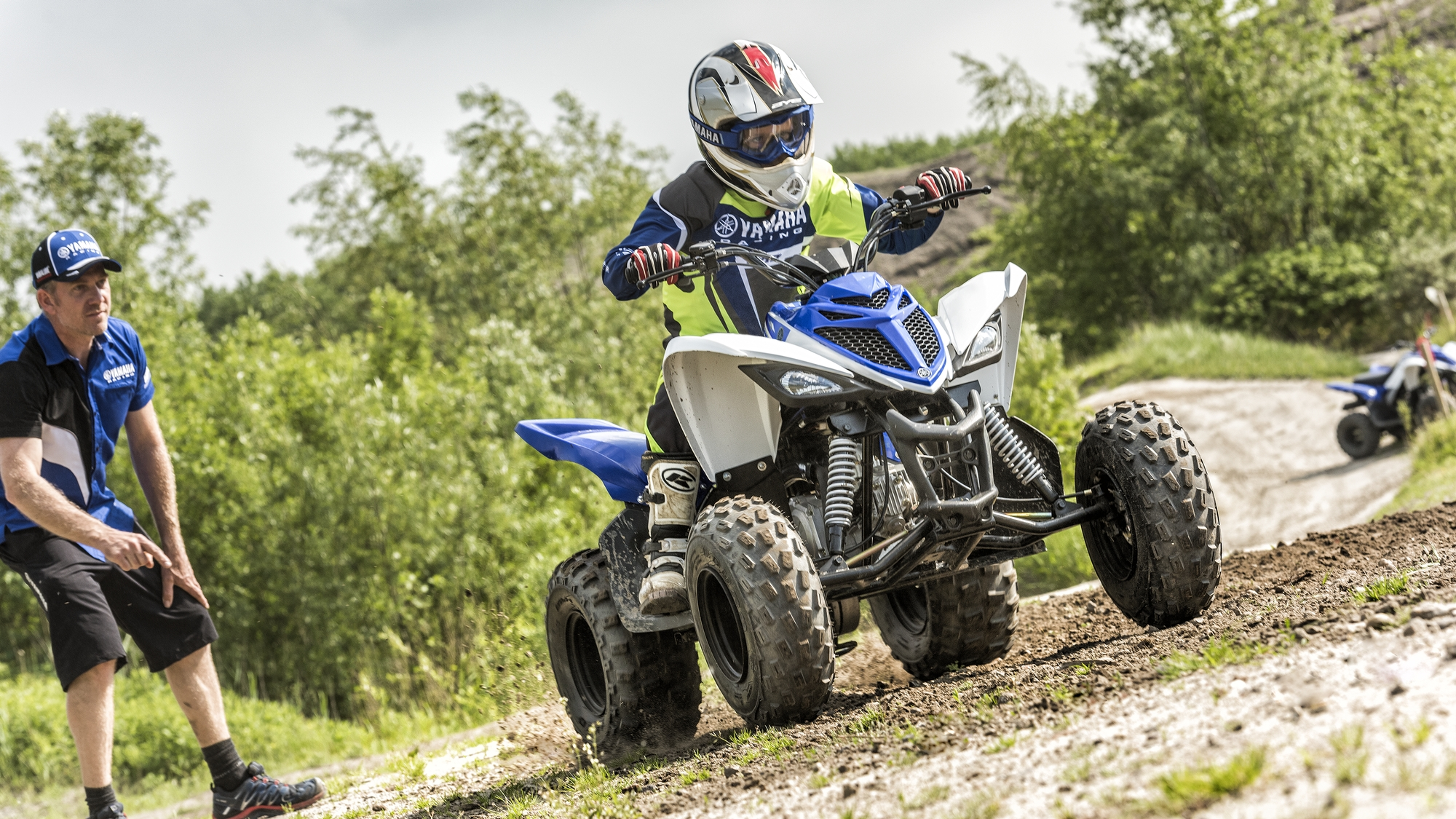 The YFM90R may be small in size, but it's equipped with several features  found on larger Yamaha models - including double A-arm independent front  suspension ...
