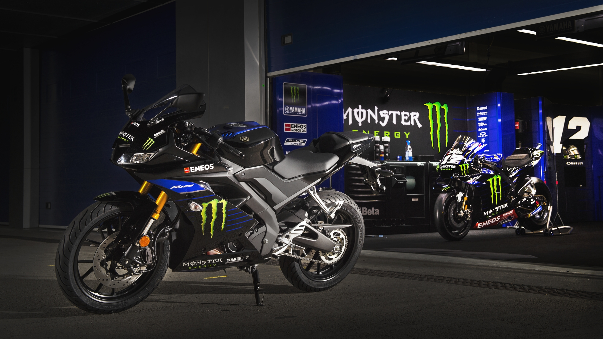 Yzf R125 Monster Energy Yamaha Motogp Edition Motorcycles Yamaha